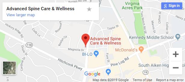 Map of Aiken Chiropractors